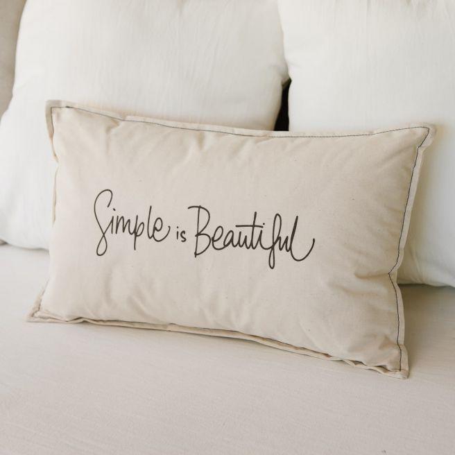 ALMOHADON SIMPLE IS BEAUTIFUL