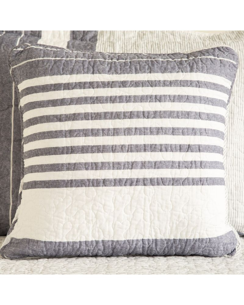 FUNDA DE ALMOHADON DENIM STRIPE