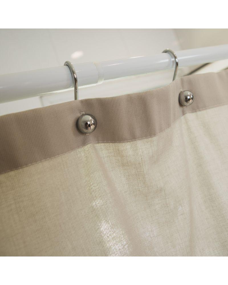 Home collection ganchos de cortina de ba o roller metal for Fabrica de ganchos para cortinas de bano