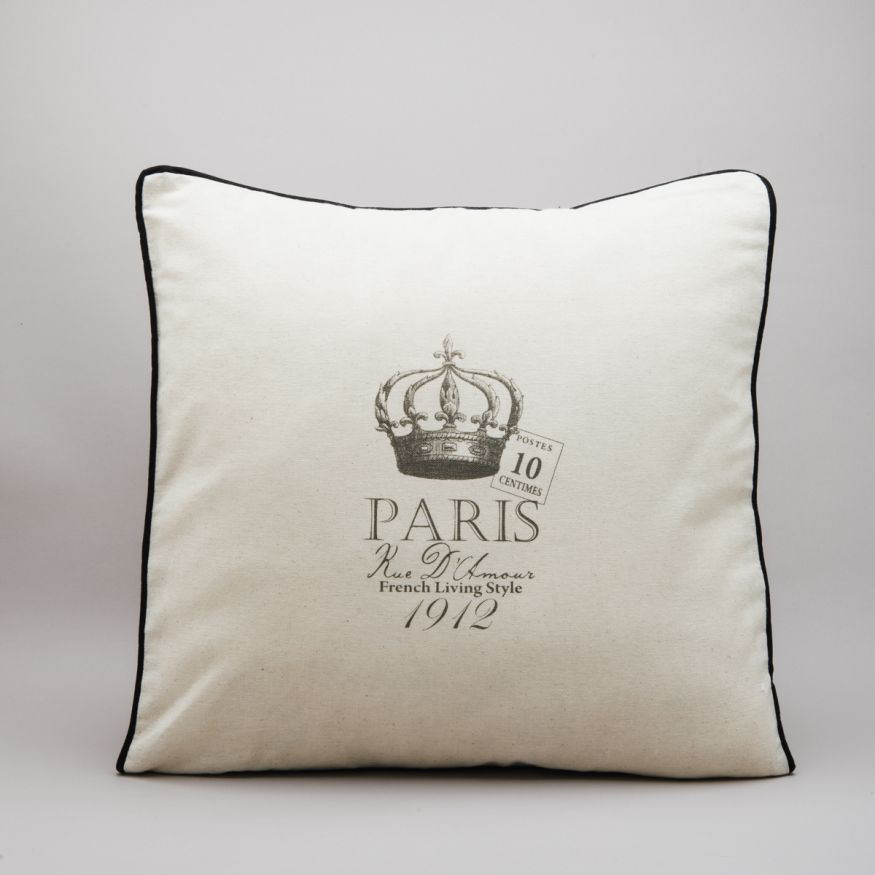 FUNDA DE ALMOHADON ESTAMPADO PARIS
