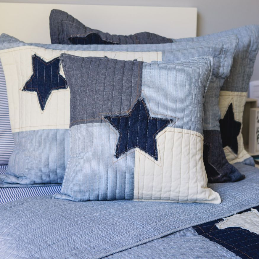 FUNDA DE ALMOHADON BLUE STAR